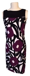 Alyx short dress White purple and black Summer Wedding Sun Flowers on Tradesy