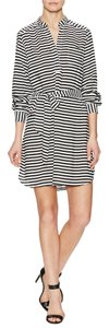 Alex Marie short dress Black and White Striped on Tradesy