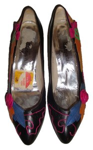 Margaret J Black/Multi Color Pumps