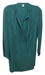 Diane von Furstenberg short dress Teal on Tradesy