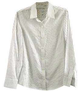 Banana Republic Classic Cotton Button Down Shirt pinstripe