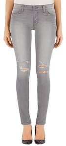 J Brand Ripped Distressed Biker Skinny Jeans-Distressed