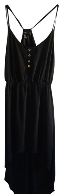 Forever 21 short dress Black High Low Sheer Strappy on Tradesy