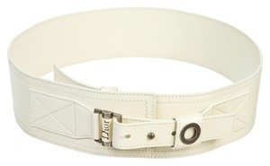 Dior Christian Dior Cream Leather Belt (Size 95)