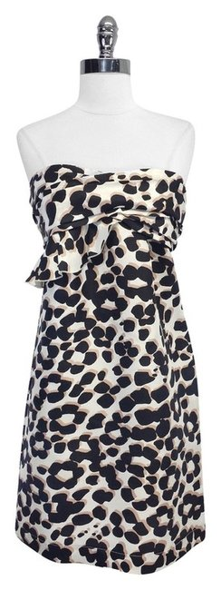 Preload https://item4.tradesy.com/images/see-by-chloe-brown-and-black-print-strapless-mid-length-short-casual-dress-size-8-m-3225958-0-0.jpg?width=400&height=650