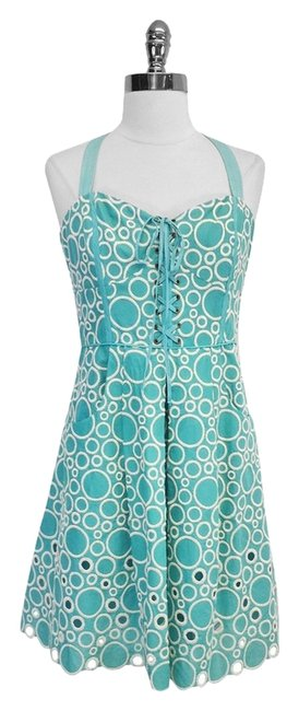 Preload https://item1.tradesy.com/images/plenty-by-tracy-reese-blue-and-white-circle-print-cotton-mini-short-casual-dress-size-10-m-3226075-0-0.jpg?width=400&height=650