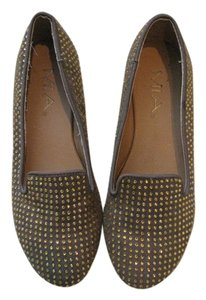 Mia Shoes Brown with gold dots Flats
