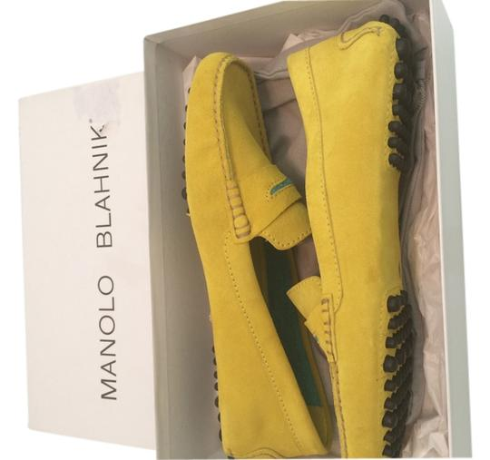 Preload https://item2.tradesy.com/images/manolo-blahnik-suede-yellow-no-name-flats-size-us-8-3227086-0-0.jpg?width=440&height=440
