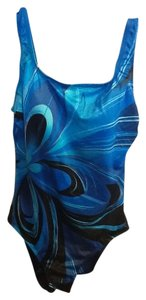 Longitude Wavy Design Swimsuit
