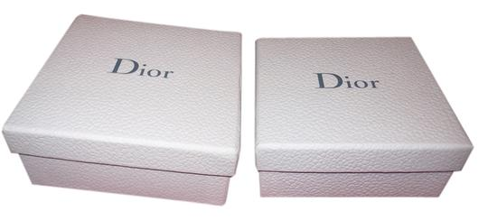 """Dior Set of 2 Empty Dior Boxes, Nested 5.25"""" x 5.25"""" x 2.25"""" Tall"""