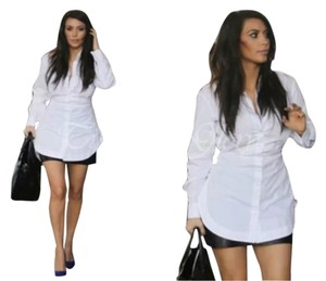ALAÏA Kimkardashian Azzedinealaia Button Down Shirt White