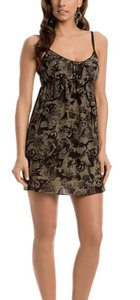 Guess Lace Silk Black Mini Dress