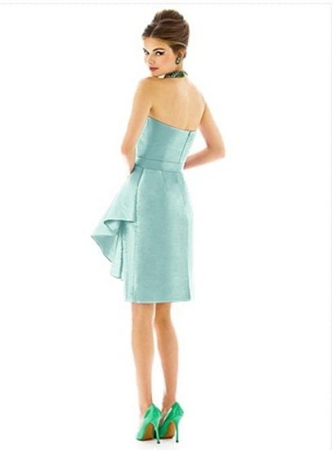 Alfred Sung Cocktail Length Strapless Dress
