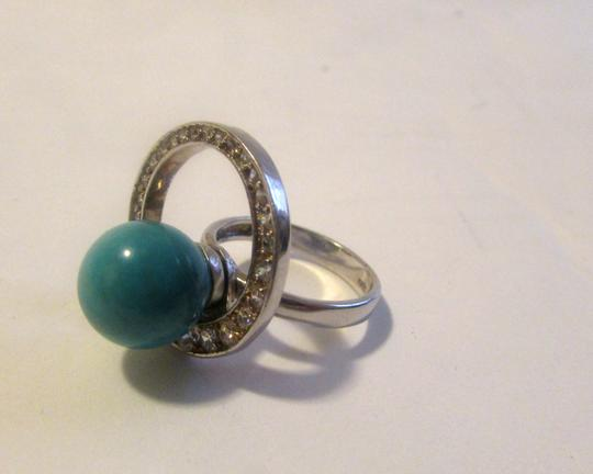 """Other Turquoise """" Around the World"""" Ring Size 8"""