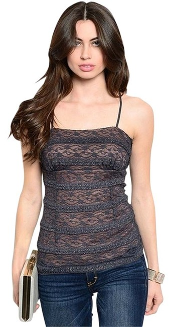 Other Layered Lace Top in Charcoal