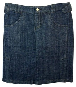 VENUS Denim Jean Dark Wash Stretch Mini Straight Mini Skirt Blue