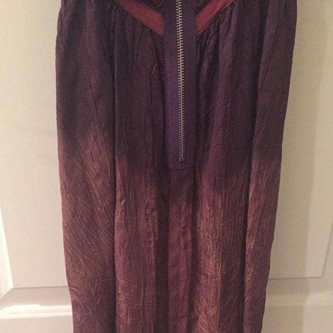 Free People Ombre Tunic Strapless Zipper Top Purple