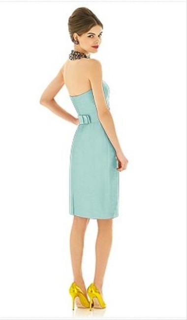 Alfred Sung Length Strapless Dupioni Dress