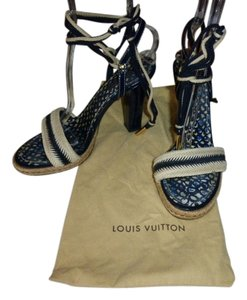 Louis Vuitton BLUE & TAN Sandals