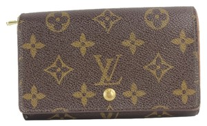 Louis Vuitton Louis Vuitton Snap Fold Zip Monogram Wallet LVAV116