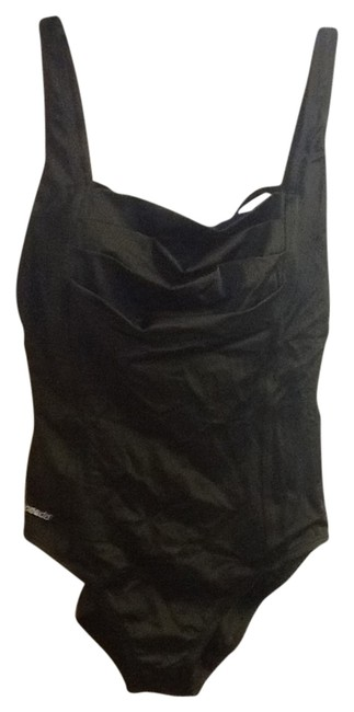 8f5aa65b434 speedo black cross over straps one piece bathing suit size 12 l 50% off  retail. TRADESY