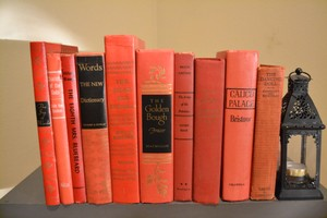Vintage Books - Red - Set Of 10
