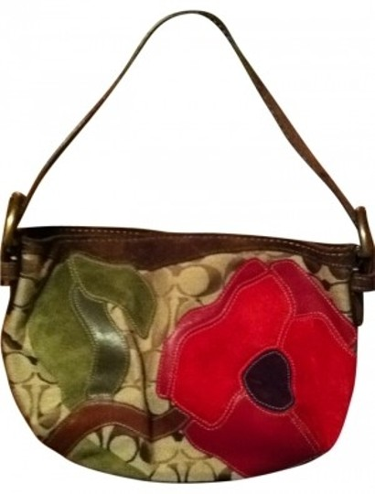 Preload https://item5.tradesy.com/images/coach-small-handbag-brown-green-and-red-flowers-shoulder-bag-32299-0-0.jpg?width=440&height=440