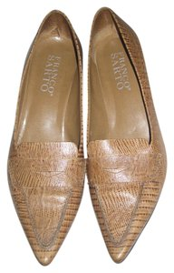 Franco Sarto Light brown embossed leather Pumps
