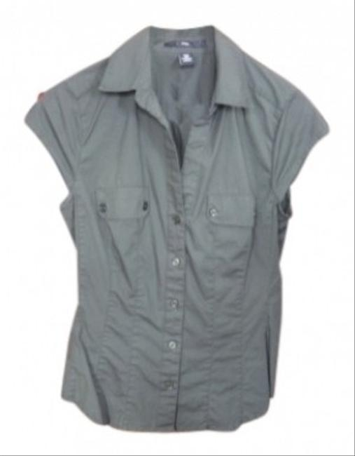 H&M Button Down Shirt Olive