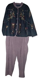 Denim & Co. NEW Outfit Gypsy Jean Jacket & 'Microsuede' Pants Plus Size 2X