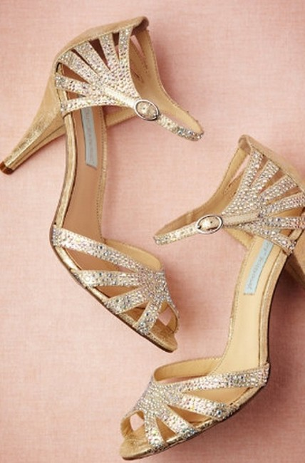 Item - Champagne Sparkle Bhldn Sandals Size US 7 Regular (M, B)