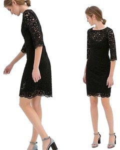 Zara Classic 3/4 Sleeve Scalloped Lace Dress