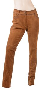 Dolce&Gabbana Dolce Gabbana Suede Boot Cut Pants Brown
