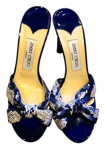 Jimmy Choo Blue and White Sandals