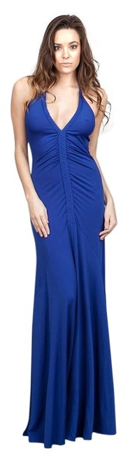 Cobalt Blue Maxi Dress by Ark & Co. Brand Long Halter Co Summer Small