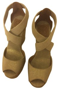 Tory Burch Wedge Leather natural gold Wedges