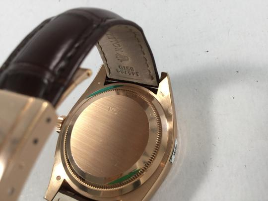 Rolex NEW UNWORN Rolex Sky Dweller 18k Rose Gold Chocolate Watch