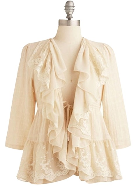 Modcloth Lace Romantic White Summer Cardigan