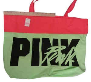 PINK Brand New pink green Beach Bag