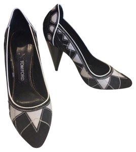 Tom Ford Pump Pump Black White Pumps