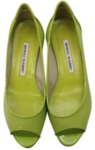 Manolo Blahnik Lime Green Flats