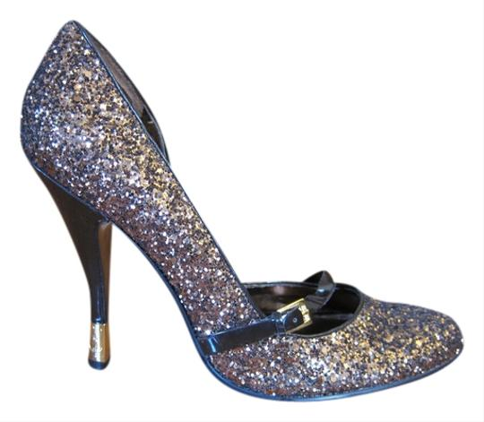 Baby Phat Mary Jane Bronze Glitter Pumps