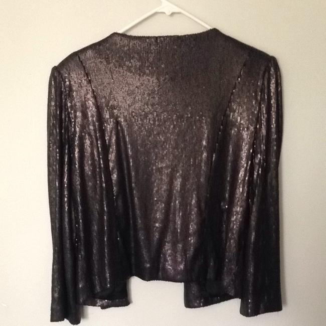 Aqua Black Sequins Blazer