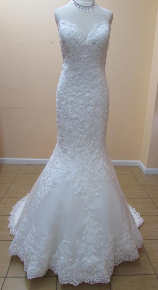 Mori Lee Ivory Lace 2713 Formal Wedding Dress Size 10 (M) - Tradesy