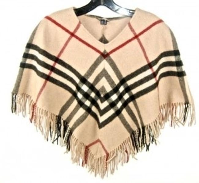 Preload https://item2.tradesy.com/images/burberry-camelbeige-cashmere-classic-plaid-ponchocape-size-os-one-size-32336-0-0.jpg?width=400&height=650