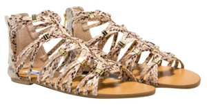 Steve Madden Flat Print Gifts For Her Scrappy Natural snake skin Sandals