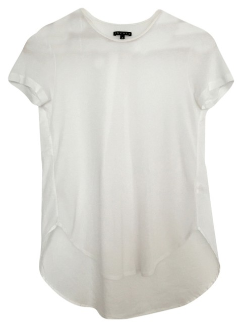 Preload https://item5.tradesy.com/images/theory-white-cotton-blend-knit-hi-low-tank-back-pleat-detail-small-tee-shirt-size-4-s-3233914-0-0.jpg?width=400&height=650