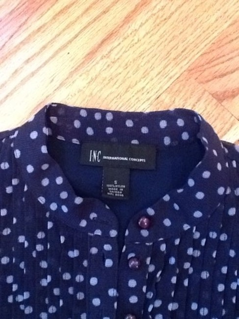 INC International Concepts Top Navy And White