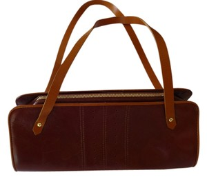 Banana Republic Satchel in Mahogany and Caramel