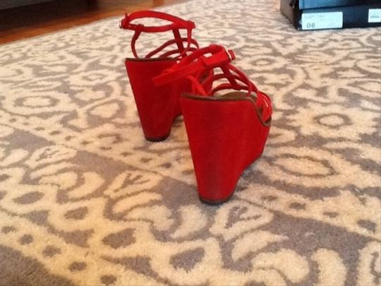 J.Crew Red Wedges